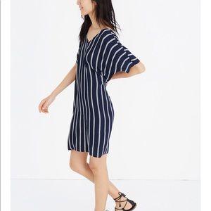 Madewell Plaza Dress in Stripe Sz L